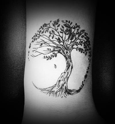 Tatuaje del árbol de la vida para pierna o brazo