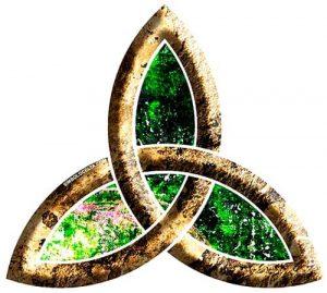 el símbolo de la triqueta o triquetra
